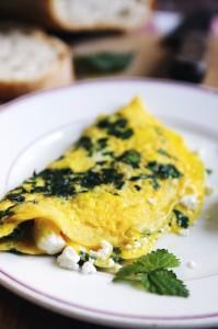 omlet z pokrzywą